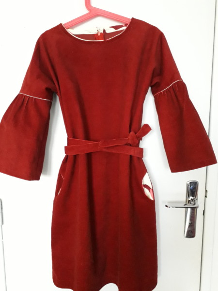 robe velours hiver